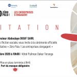 """Invitation à la cérémonie de lancement """"zéro palu, les entreprises"""